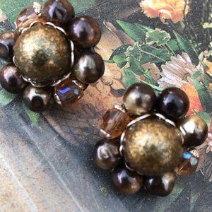 Women's vintage bronze Autumn 🍂 Earrings jewelry